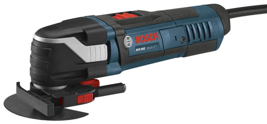 Bosch MX30E Oscillating Tool with Depth Stop Guide and Segmented Blade