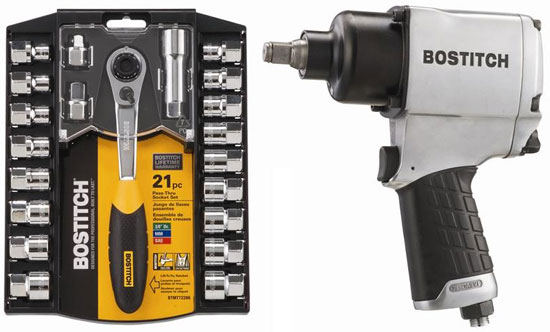 Bostitch Mechanics Tool Set and Pneumatic Impact Wrench
