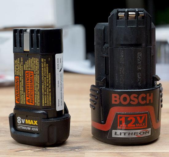 Dewalt 8V Gyroscopic Screwdriver Battery Comparison