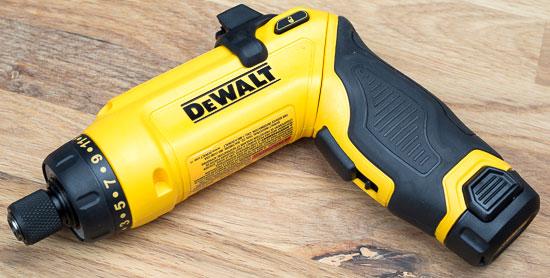 Dewalt 8V Gyroscopic Screwdriver Pivoted Pistol grip