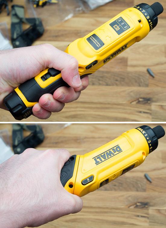 Dewalt 8V Gyroscopic Screwdriver Straight Grip Rotation
