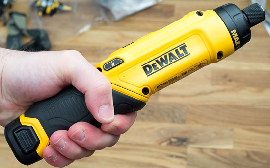 Dewalt 8V Gyroscopic Screwdriver Straight Grip Top