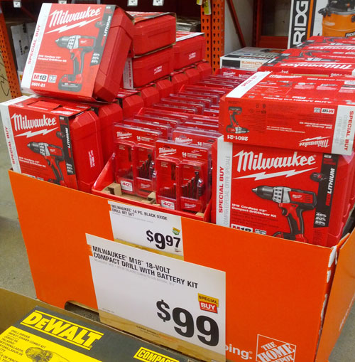 Milwaukee M18 Drill Driver Kit $99 Special