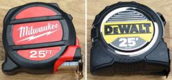 Milwaukee vs. Dewalt Tape Measure Comparison
