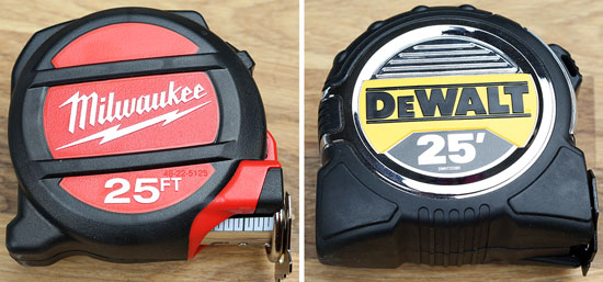 Milwaukee vs. Dewalt Tape Measure Comparison