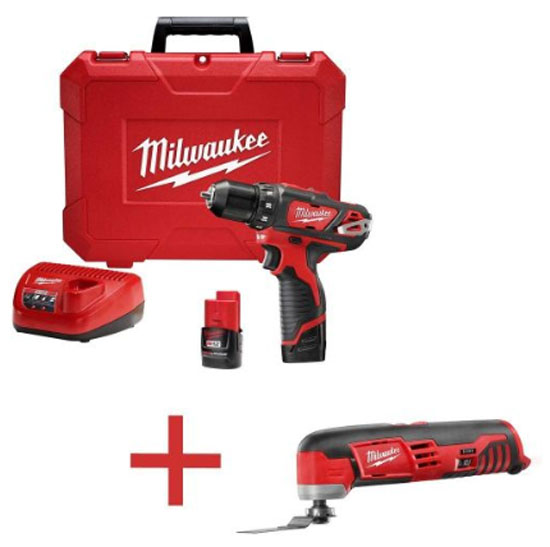 Milwukee M12 Drill Driver Kit plus Free Oscillating Multi-Tool