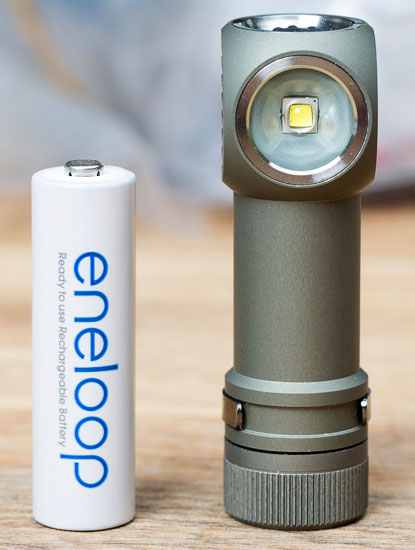 Zebralight H502W LED Headlamp and Eneloop Battery