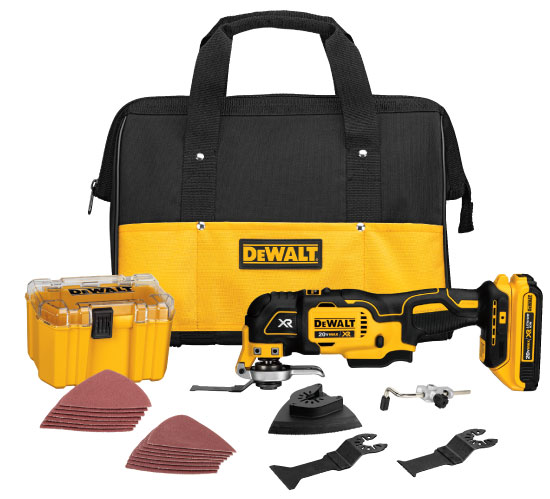 Dewalt DCS355D1 Cordless Brushless Multi Tool Kit