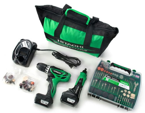 Hitachi 12V Drill Driver and Rotary Tool Combo Kit