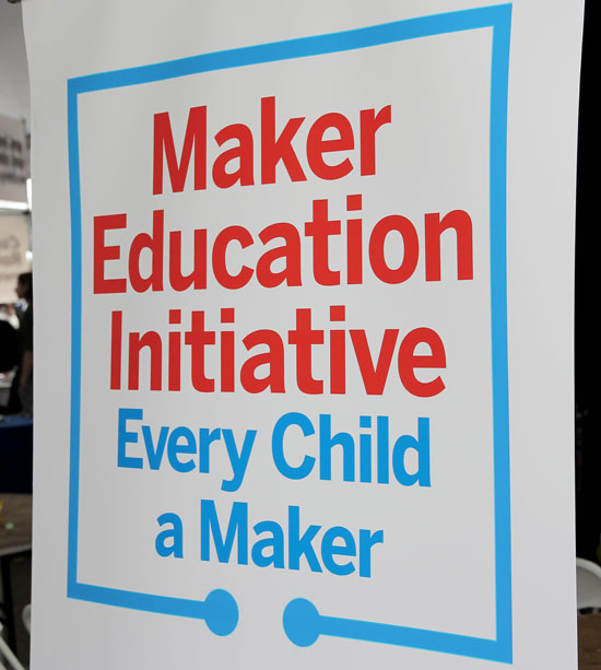 Maker Faire NYC 2012 Every Child a Maker Sign