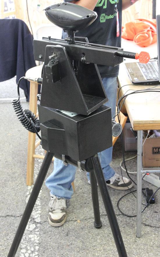 Maker Faire NYC 2012 Paint Ball Gun Tracker