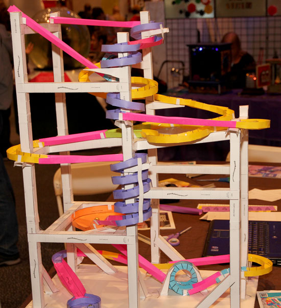 Maker Faire NYC 2012 Paper Marball Maze