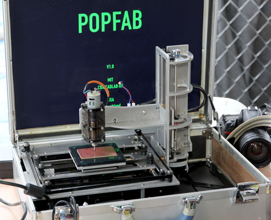 Maker Faire NYC 2012 PopFab Briefcase CNC