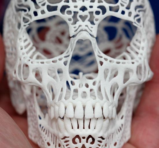 Maker Faire NYC 2012 Shapeways 3D Printed Skull