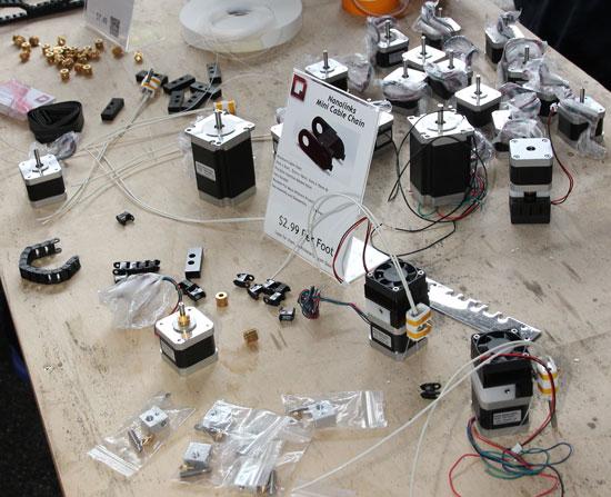 Maker Faire NYC 2012 Stepper Motors and CNC Components