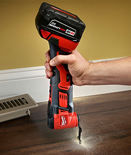 Milwaukee M18 Oscillating Multi-Tool 2626-22 Held Vertically