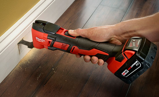 Milwaukee M18 Oscillating Multi-Tool 2626-22 in Action
