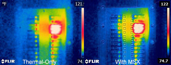 FLIR E4 Thermal Image and MSX Comparison