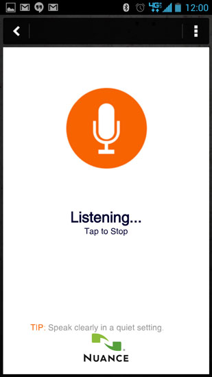 Home Depot Pro App Mic Screen
