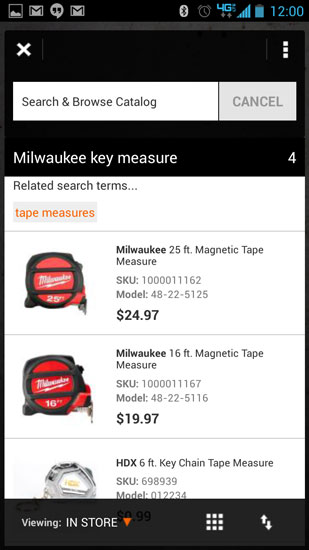Home Depot Pro App Mic Test Milwaukee Tape Measure