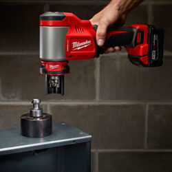 Milwaukee M18 Force Logic Knockout Punch in Action