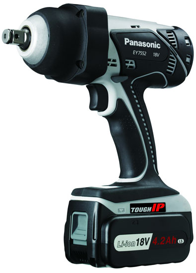 Battery Powered Impact Wrench >> New Panasonic 18V Cordless High Torque 1/2″ Impact Wrench