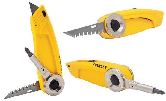 New Stanley 3 In 1 Utility Knife Multi Tool