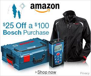 Bosch Save 25 off $100 Holiday 2013