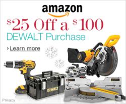 Dewalt Save 25 off 100 Amazon Holiday 2013