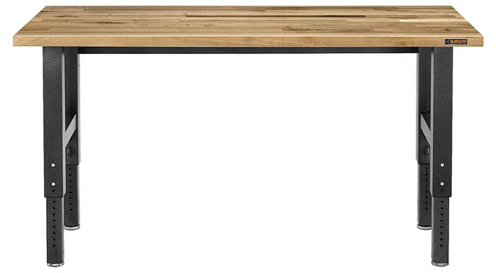 50% Off The Gladiator 6 Foot Adjustable Height Maple Workbench