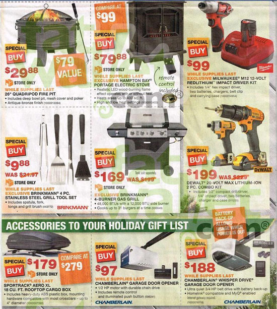 Black friday pictures home depot.