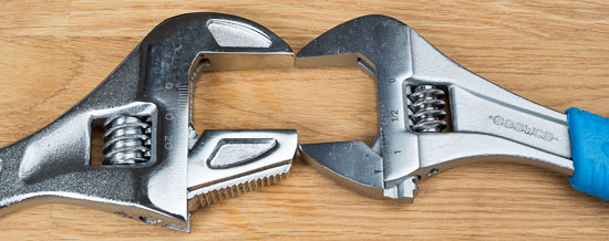 Husky Reversa Adjustable Wrench Channellock Comparison