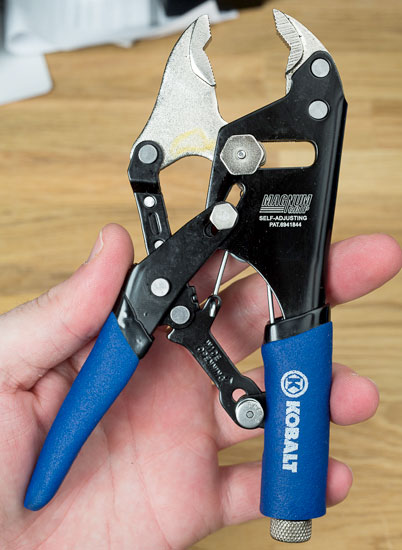 Kobalt Magnum Grip Locking Pliers Open