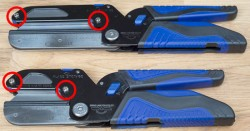 'How to Change the Blade on Your New Kobalt Triple Cut Multi-Cutter' from the web at 'http://toolguyd.com/blog/wp-content/uploads/2013/11/Kobalt-Triple-Cut-Utility-Cutters-Blade-Change-Screw-Locations-250x131.jpg'