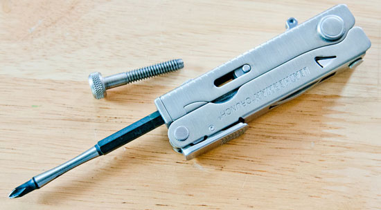 Leatherman Crunch Multi-Tool with Hex Screwdriver Bit