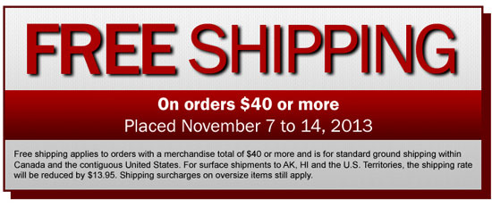 Lee valley free shipping coupon 2018