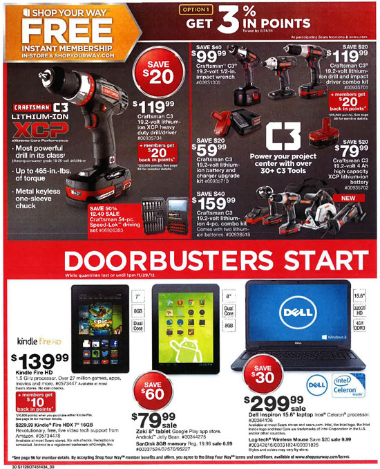 Sears Black Friday 2013 Tools Page 30