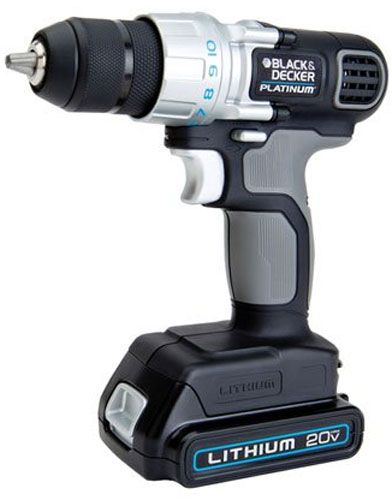 black decker platinum 20v max drill driver review. Black Bedroom Furniture Sets. Home Design Ideas