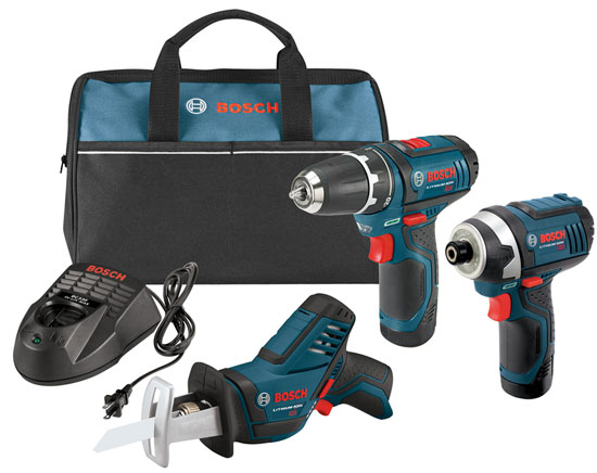 Bosch 12V Drill Impact Driver and Reciprocating Saw Kit