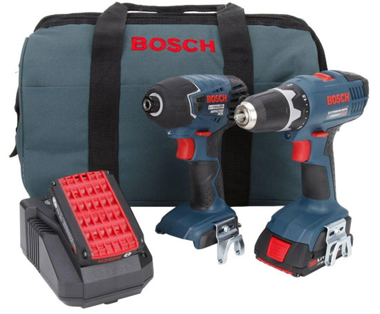 deal of the night bosch 18v drill and impact driver kit. Black Bedroom Furniture Sets. Home Design Ideas