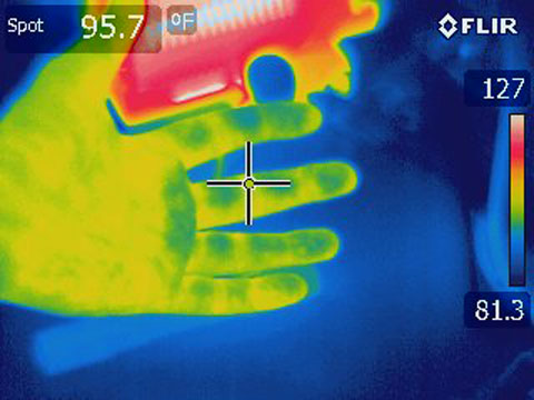 Flir E60 Thermal Image of Hand