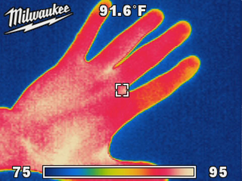 Milwaukee Thermal Image of Hand