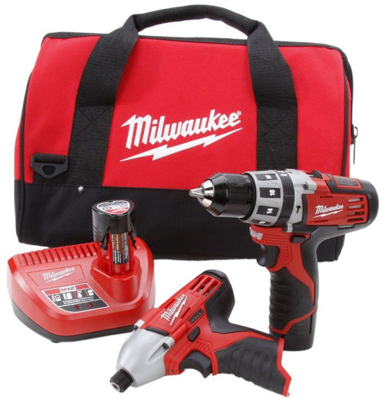 Milwaukee M12 Hammer Drill and Impact Driver Combo Kit