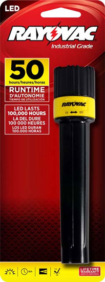 Recall: Rayovac LED Flashlights