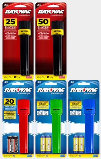 Recalled Rayovac LED Flashlights 2014