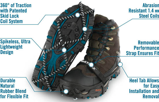 Yaktrax Pro Ice Cleats Features