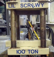 DIY Mechanical 4-Screw Press
