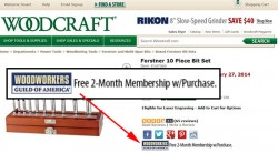 Thanks Woodcraft, for Woodworkers Guild of America DVD Junk Mail