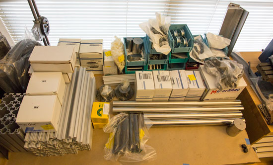 Bosch OMT Blade Testing Apparatus Pile of Parts