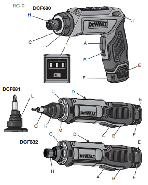 Dewalt 8V DCF681 and DCF682 Screwdrivers